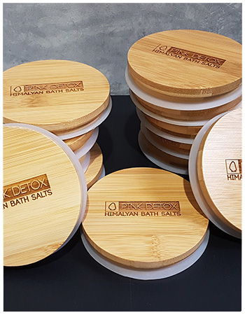 Lasered timber lids